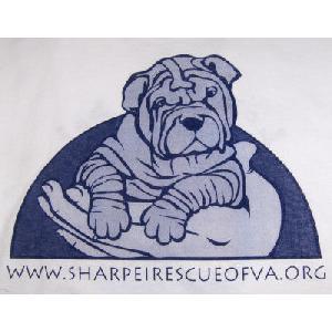 Shar Pei Rescue Of Virginia Clearance Loving A Pet Logo T Shirt White Small